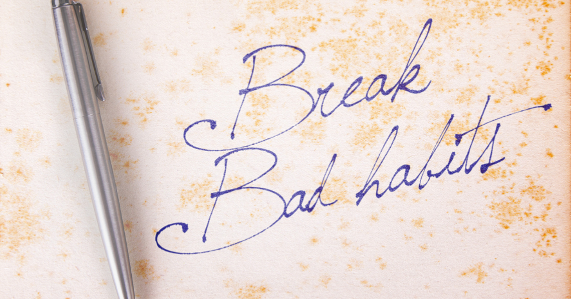 Break bad habits for face wrinkles and double chin